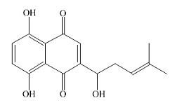 紫草素结构式